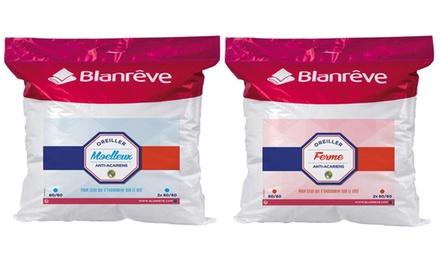 Jusquà 12 oreillers volume Ferme ou Moelleux Blanrêve anti acariens aux huiles essentielles, Fabriqués en France