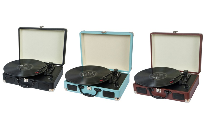 Groupon Goods Global GmbH: Tocadiscos retro disponible en varios colores por 54,99 €