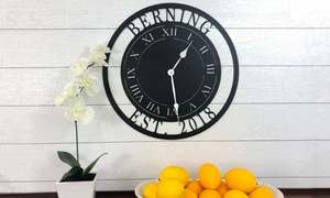 Up to 49% Off Personalized Laser-Cut Steel Clock