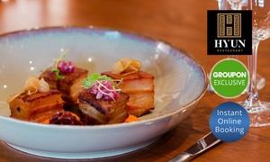Hyun: Fine dining French Korean fusion with Wine or Beer for 2 ($45), 4 ($89) or 6 People ($119) at Hyun (Up to $270 Value)