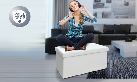 Folding Ottoman Storage Cube from £9.98 or Bench from £19.99 - 4 colours (Up to 84% Off)