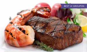 SeaGalley & Pepper Mill: Steaks and Fresh Seafood at SeaGalley & Pepper Mill (Up to 38% Off). Two Options Available.