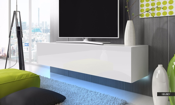 meubles tv lana led groupon. Black Bedroom Furniture Sets. Home Design Ideas