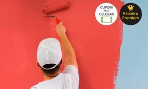 Novo Visual Pinturas: Pintura de 50, 100, 200 ou 500 m² de teto e parede + tinta e massa corrida com a Novo Visual Pinturas