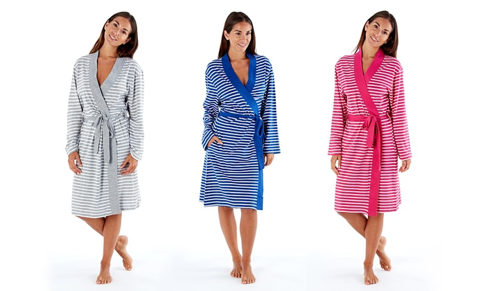 Cotton Jersey Striped Gown | Groupon Goods