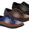 Franco Vanucci Gregor Men's Two-Tone Canvas Sneakers
