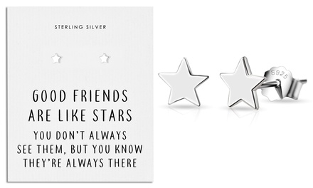 One or Two Pairs of Philip Jones Sterling Silver Star Quote Earrings