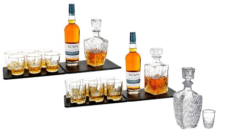 One or Two Bormioli Rocco Selecta or Dedalo SevenPiece Whisky Sets