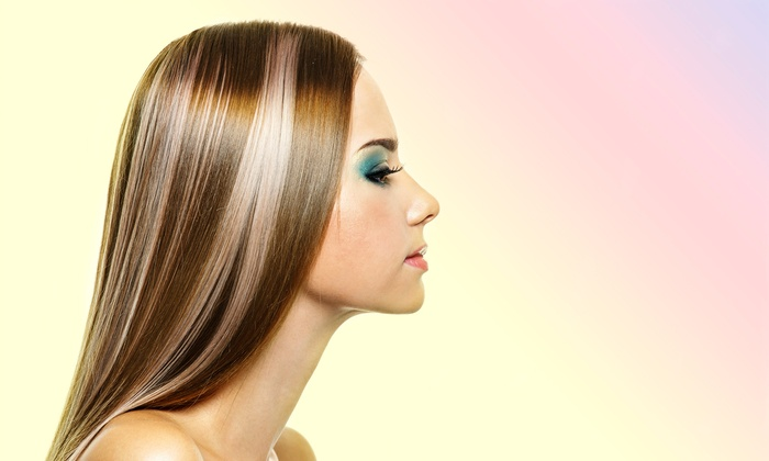 Amore Salon and Spa with Celeste Duckworth - Amore Salon and Spa: Haircut Package with Optional Highlights or Balayage Color at Amore Salon and Spa with Celeste Duckworth (Up to 58% Off)