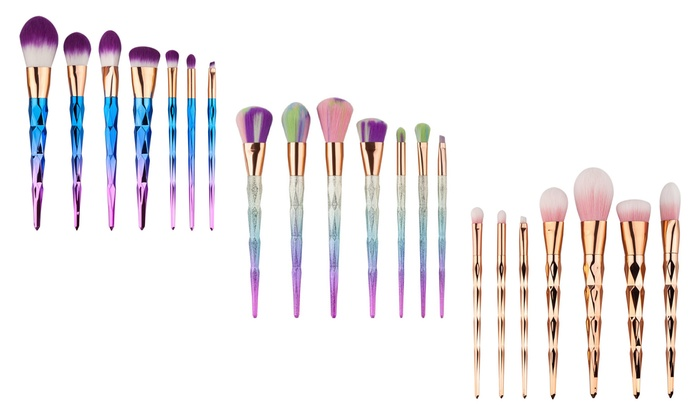 unicorn brush sets. 7-pc unicorn makeup brush set sets