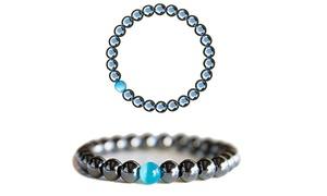 Bracelet hématite perle d'opale