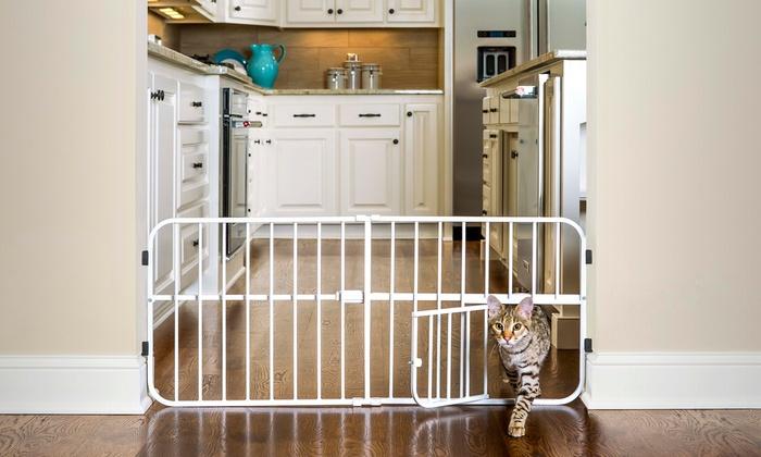 Carlson Lilu0027 Tuffy Epandable Pet Gate With Small Pet Door