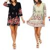 Women's Floral Mini Dress. Plus Sizes Available.