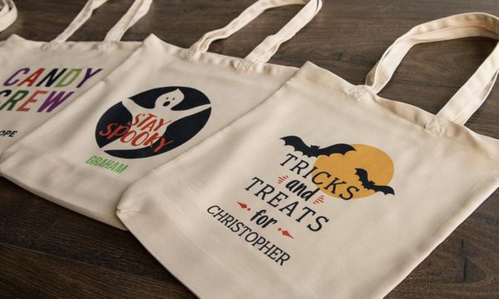 Halloween Trick Or Treat Bags Personalized.Personalized Trick Or Treat Bag Qualtry Groupon