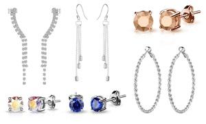 (Bijou)  Boucles d'oreilles ornées cristaux Swarovski® -80% réduction