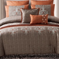 Deals on Grace Chambray Embroidered Comforter Set 7-Piece