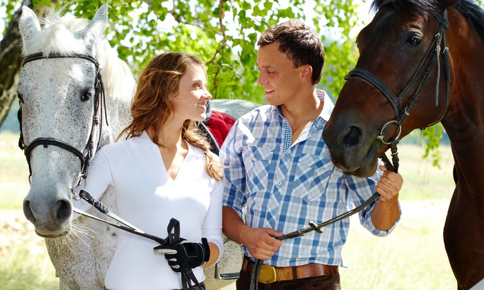 Equine Blvd. - Agawam Town: $105 for a Romantic Horseback Trail Ride for Two with Hot Cocoa at Equine Blvd. ($200 Value)