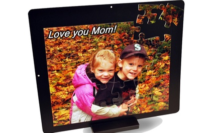 "groupon daily deal - 8""x10"" 30- or 70-Piece Custom Magnetic Puzzle from Heads Up Puzzle"