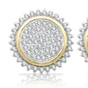 1/2 CTTW Diamond Earrings in Sterling Silver