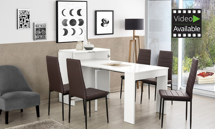 console extensible volta groupon shopping. Black Bedroom Furniture Sets. Home Design Ideas