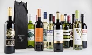 Splash Wines: 15-Bottle Holiday Wine Package with Tote Gift Bags from Splash Wines (Up to 75% Off)