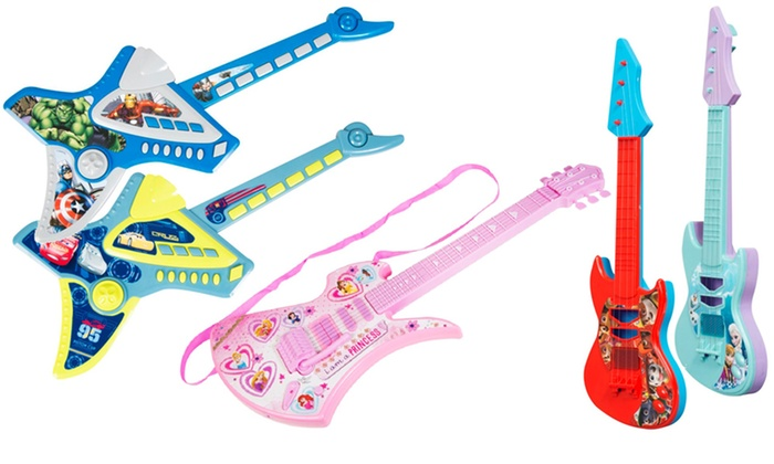 Kid's Character-Themed Instrument Guitar or Electronic Guitan in Choice of Design From £4.98