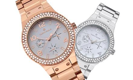 1 ou 2 montres Timothy Stone collection Façon ornées de cristaux Swarovski®, livraison offerte