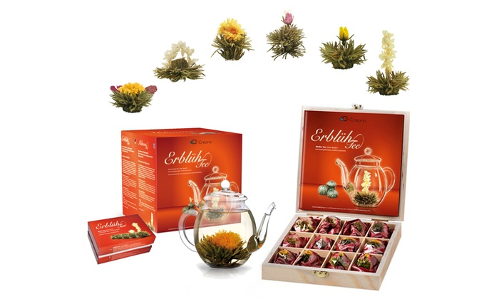 Selection of Creano Flowering Tea Christmas gift Set