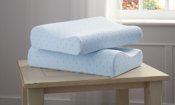 image placeholder image for arctic sleep cool blue memory foam pillow 2pack