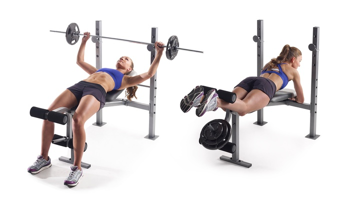Gold 39 S Gym Xr 6 1 Weight Bench Groupon Goods