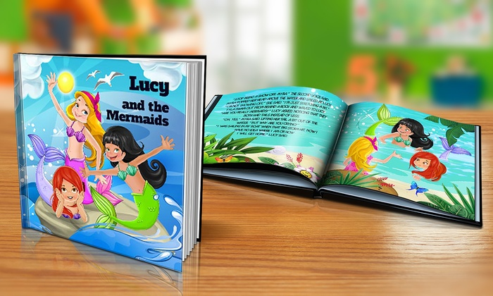 "Dinkleboo: $9 or $14 for Softcover or Hardcover ""The Mermaids"" Personalized Kids Book from Dinkleboo (Up to 65% Off)"
