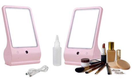 LED Vanity Makeup Cosmetic Mirror with Facial Steamer