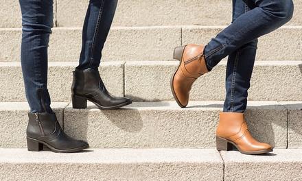 Boots à talons en cuir avec zip Redfoot