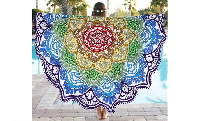 $20 for a Lotus Flower Beach Throw, or $30 for Two
