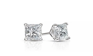 2.00 CTTW Stud Earrings with Swarovski Crystals by Mina Bloom