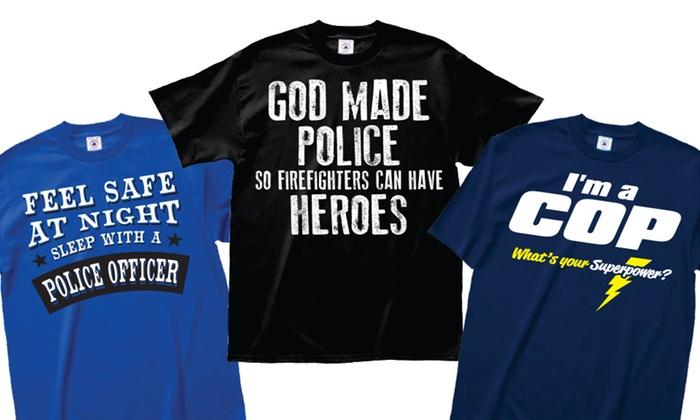 Men's Celebrate Cops Tees: Men's Celebrate Cops Tees
