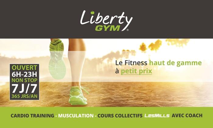 Abonnement d'un an pour 1 ou 2 personnes dès 179 € dans l'un des clubs Liberty Gym