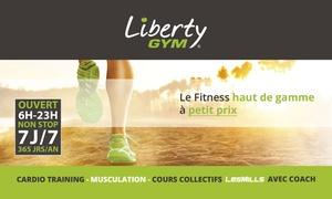 Liberty Gym: Abonnement d'un an pour 1 ou 2 personnes dès 179 € dans l'un des clubs Liberty Gym