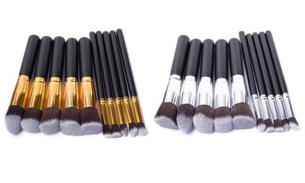 1 o 2 set di 10 pennelli per trucco Glamza, disponibili in 2 colori