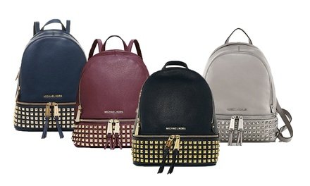 $299 for Michael Kors Rhea Small Studded Leather Backpack Don't Pay $542.50