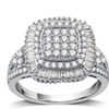 1 CTTW Diamond Fancy Double Halo Ring in Sterling Silver by DeCarat