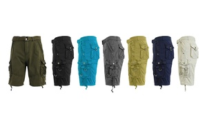 Galaxy by Harvic Men's Belted Multi-Pocket Cargo Utility Shorts