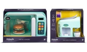 Set de jouets micro ondes et machine expresso pour enfants WDK Partner