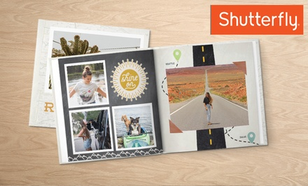 One Two, Three, or Five 8x8 Hardcover 20-Page Photo Books from Shutterfly (Up to 84% Off). Four Options Available.