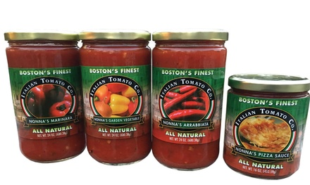 Nonna's All-Natural Variety Sauce Bundle (4-Pack) from Italian Tomato Co