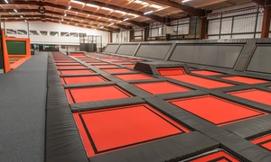 Adrenaline International: One-Hour Trampoline Park Entry with Grip Socks for Up to Four at Adrenaline International