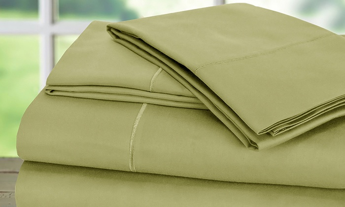 1000tc 100 Egyptian Cotton Addy Home Sheet Set Groupon