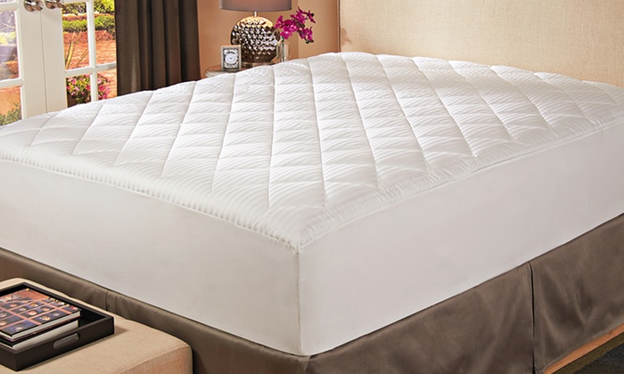 Down-Alternative Mattress Pads: Hotel Madison 400-Thread-Count Stain-Resistant Down-Alternative Mattress Pad. Free Shipping.