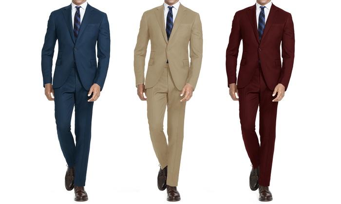 Hollywood Celebrity Men's Slim-Fit Fashion Suits (2-Piece)