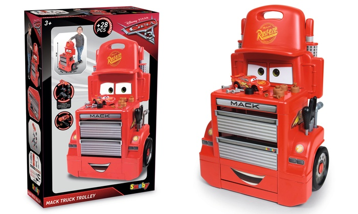 Smoby Cars 3 Mack Truck Trolley   Groupon Goods
